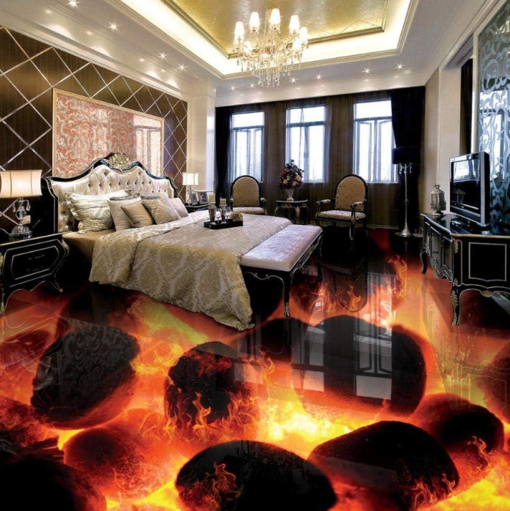 Custom 3D Flooring Murals New York Mall Stereo Stones Max 54% OFF Flame Living Bedroom