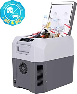CIGREEN 25.4 Quart (24 Liter) Portable Refrigerator, Compressor Electric Cooler, Mini Fridge/Freezer for Driving, Camping, Travelling, Fishing, Outdoor and Home Use -12/24V DC and 110-240 AC, DC-25T