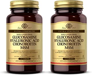 Solgar Glucosamine Hyaluronic Acid Chondroitin MSM, 120 Tablets - Pack of 2 - Supports Healthy Joints, Range of Motion & F...