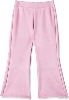 Giggles Plain Wide-legged Pants for Girls - Rose, 6-7 Years