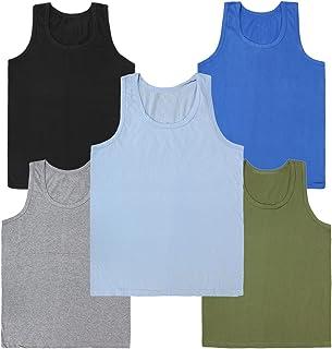 Kids Basket Boys 100% Pure Cotton Kids Color Vest Innerwear ( Pack Of 5) - Regular Use