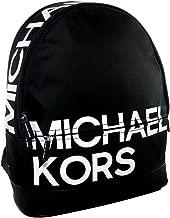 New Michael Kors Logo Full Size Backpack School Book Bag Tote Black White