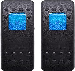 Carling Contura II Actuator Black Button Blue Square & Bar Lens (Pack of 2)