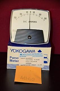 Yokogawa Weschler 250425ECNT 50-0-50 DC Amperes Panel Meter