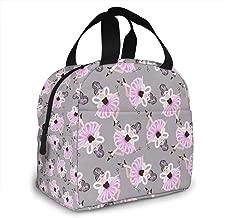 Lunch Bag Cute Dancing Ballerina Girls In Pink Tutus Tote Bag For Women Men Lunch Organizer Lunch Holder Insulated Lunch Cooler Bag For Women/Men