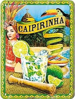 Nostalgic-Art 26145 Plaque Vintage Caipirinha – Idée de Cadeau comme Accessoire de Bar, en métal, Design Retro pour la déc...