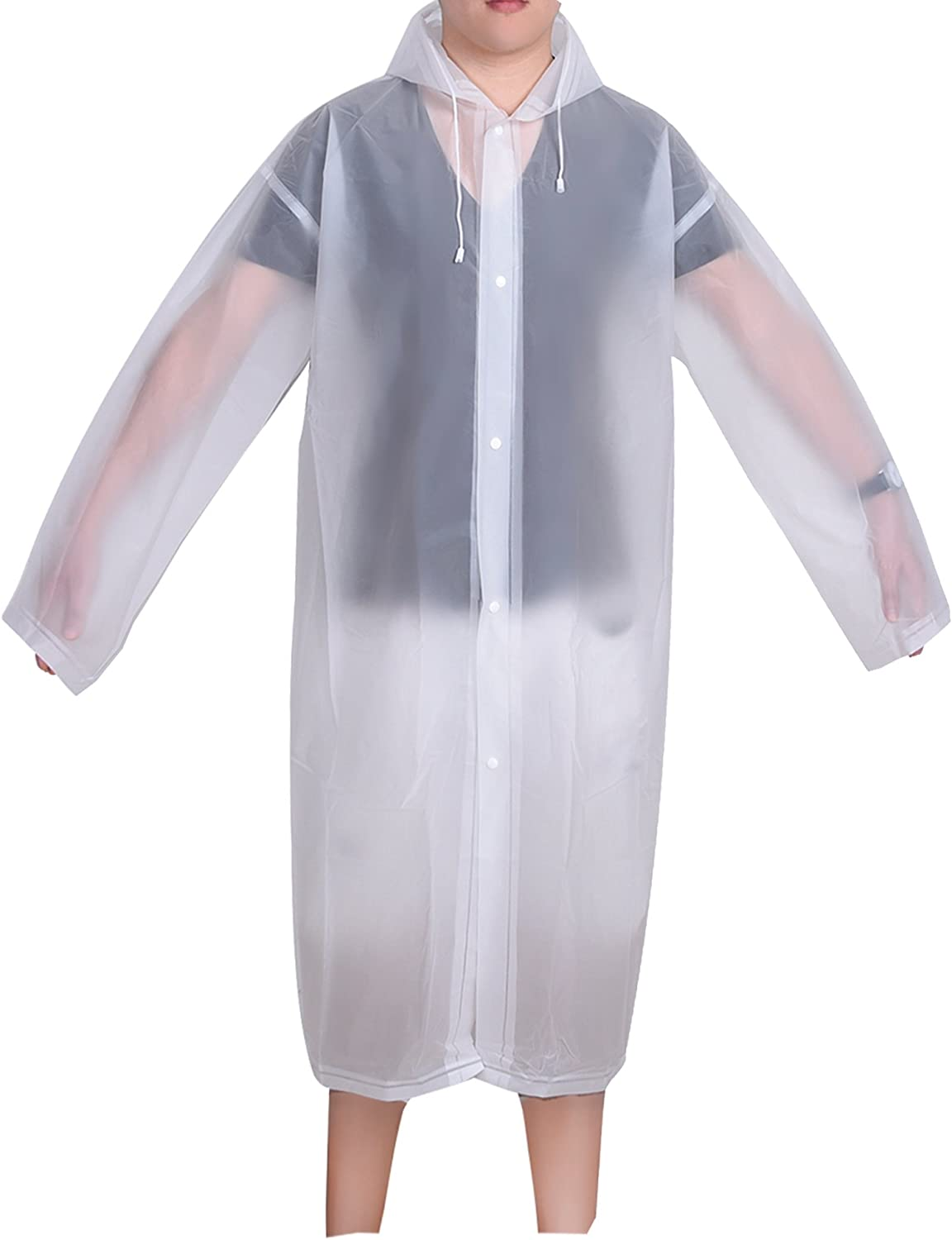 Mudder Adult Portable Raincoat Rain Poncho with Hoods and Sleeves