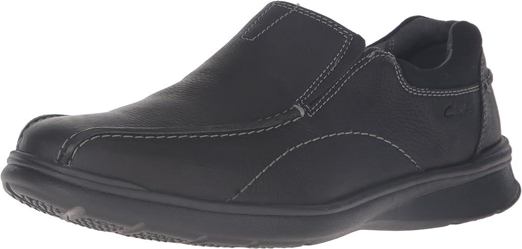 CLARKS Hommes's Cotrell Step Slip-on Loafer, noir Oily, 9.5 M US