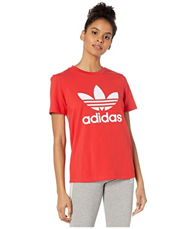 adidas Originals Trefoil Tee (Lush Red/White) Women