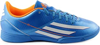 Adidas F5 Indoor Junior Soccer Shoes - Solar Blue (Big Kid) - 4.5