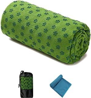 Quick Dry Non-Slip 72'' x 24.8'' Inches Yoga Mat Towel- Super Soft, Sweat Absorbent, Non-Slip Bikram Hot Yoga Towels   Per...