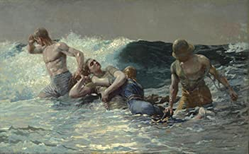 Gifts Delight Laminated 39x24 Poster Winslow Homer - Undertow