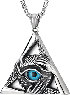 Best evil eye triangle necklace Reviews