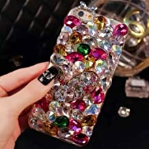 iPhone 6/6s Case, LU2000 3D Crystals Diamond Sparkle Bedazzled Jeweled Bling [Heart Series] Phone Snap-on Hard Case for iPhone 6 6s (4.7 inch) AT&T Verizon & Sprint - Pattern NO.7: Red Theme