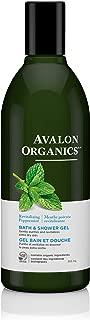 Avalon Organics Revitalizing  Bath & Shower Gel, Peppermint, 12 fl oz