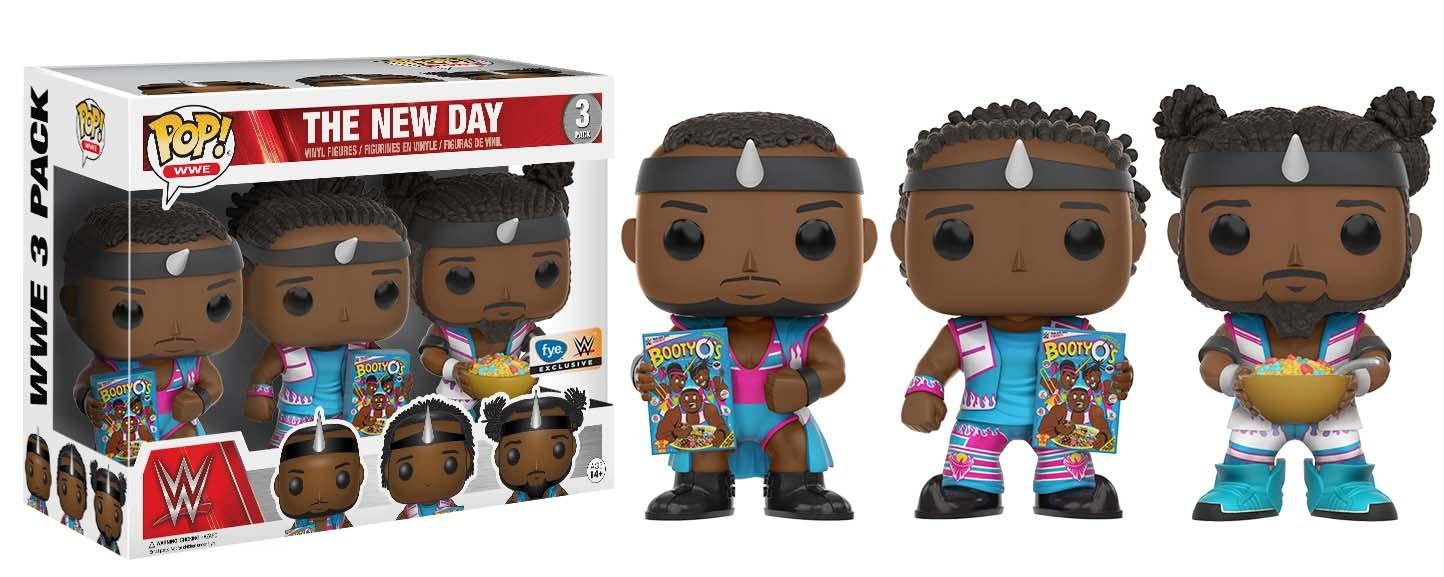Funko 13669 – WWE Wrestling, Pop Vinyl Figure 3-Pack The New Day Booty OS: Amazon.es: Juguetes y juegos