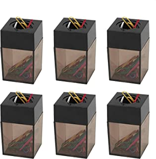 Paper Clip Dispenser, Magnetic Paper Clip Holder – Compact Size fits Perfectly on Your Desk or Table – Great for School, Office - 6 Pack