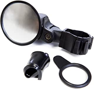 Bike Mirror - Easy mount to handle bar and fully adjustable to any bicycle - Clamps tight to handlebar for reliable and safe rear view
