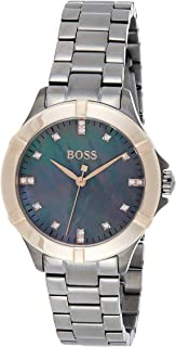 Hugo Boss Womens Quartz Watch, Analog Display and Stainless Steel Strap 1502470