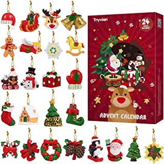 Toyvian 24Pcs Hanging Ornaments,Christmas Animals Relief Toys,Xmas Christmas Decorations for Wall Christmas Tree,Advent Ca...