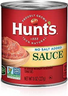 Hunt's Tomato Sauce No Salt Added, Keto Friendly, 8 oz