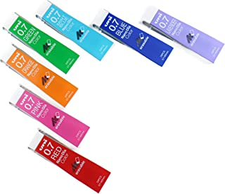 Uni Mechanical Pencil Leads Nano Dia 0.7mm, 7 Colors, 20 leads 7-packs (Total 140 Leads) MIYABI Stationery Store Original Package.(uni07-7colors)