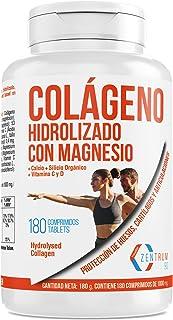 Colágeno hidrolizado con calcio para huesos y articulaciones – Colágeno con vitamina C y vitamina D para ayudar a la energía del día a día (180)