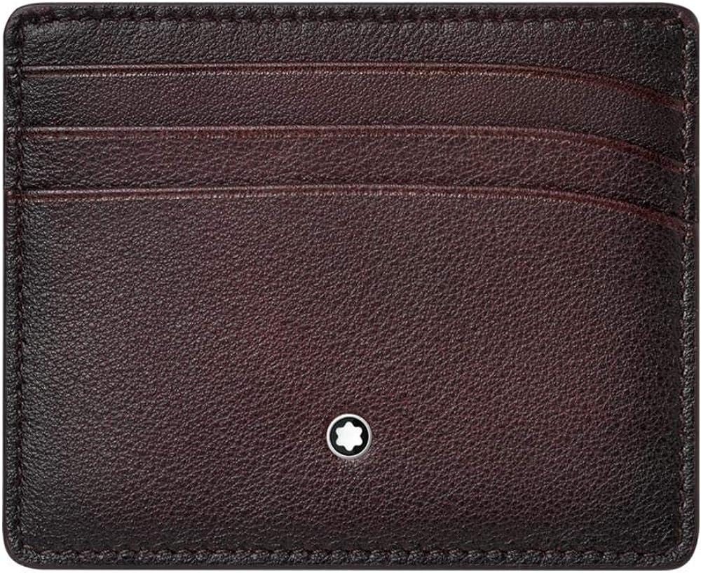 MONTBLANC Unisex Meisterstueck Sfumato Burgundy Leather 6cc Pocket Holder 123729