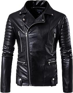 (シンプルフレーバー)ライダースジャケット バイクジャケット メンズ フェイクレザー ショート ブルゾン 革ジャン