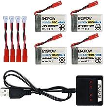 ENGPOW 3.7V 850mah Rechargeable Lipo Battery for MJX X400 X400W Holy Stone X300C X400C X800 HS110 HS200 Syma X56W Sky Vipe...