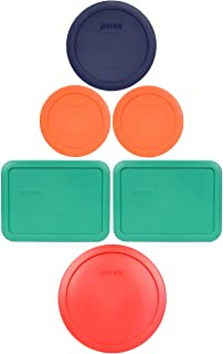 Pyrex (1) 7402-PC 6/7 Cup Red (2) 7210-PC 3 Cup Light Green (1) 7201-PC 4 Cup Blue (2) 7200-PC 2 Cup Orange Food Storage Lids