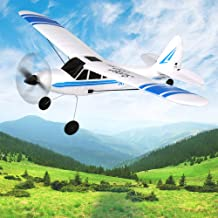 """FUNTECH RC Airplane RTF, 3 Channel Remote Control Airplane RC Glider Plane 2.4GHz Radio 6 Axis Gyro Stabilizer, Durable EPP Foam Easy to Fly,Wingspan 19.7"""", Length 13.8"""",Blue"""