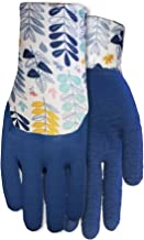 Midwest Gloves & Gear 65K0P06 EZ Grip 6 Pack, Latex Gripper Glove, Blue/Floral Pattern