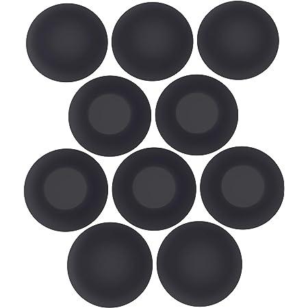 "AirFIT Foam Ear Pads for Sony Sennheiser Philips Headset Headphone Covers 46mm / 1.8"" Replacement Foam Earphone Ear Pad Cushions, Black, 10 Pack / 5 Pairs"