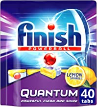Finish Powerball Quantum Dishwasher Tablets, Lemon Sparkle, 40 Pack