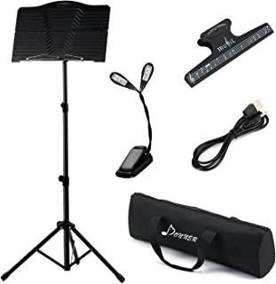 Donner Sheet DMS-1 Folding Travel Metal Music Stand with Carrying Bag