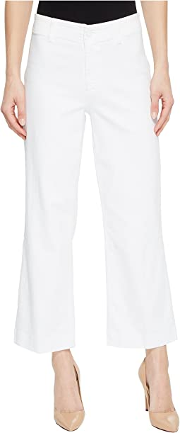 Paige Clean Front Nellie Culotte in Crisp White