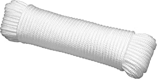 """Gardzen 50' x φ1/4"""" Polypropylene Rope Sollid Braided Poly Rope Rope - for Multiple Usages, Flagline, Clothesline, Camping..."""