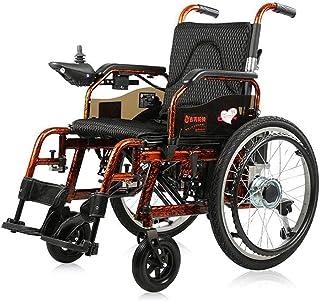 WJSWD Sillas de Ruedas eléctricas para Adultos Silla de Ruedas eléctrica for Adultos a discapacitados Ligero Plegable eléctrico for Adultos (Negro) para los Ancianos y discapacitados