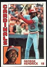 1984 Topps Baseball #540 George Hendrick St. Louis Cardinals Official MLB Trading Card Sharp Corners Guaranteed