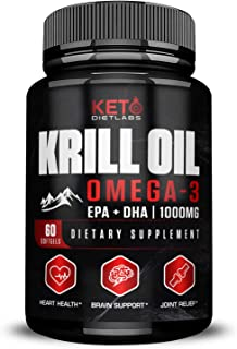 Krill Oil Supplement 1000 MG - Antarctic Krill Oil Omega 3 - Krill Oil Capsules with EPA/DHA - Omega 3 Fish Oil - Joint Su...