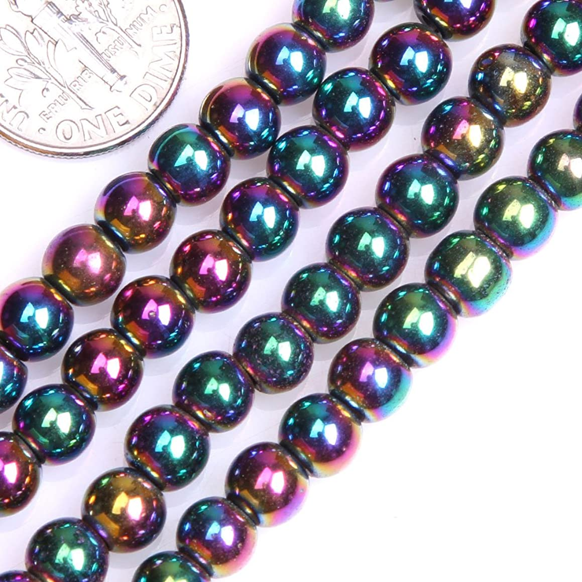GEM-insid 6mm Hematite Round Multicolor Beads Strand 15 Inches For Jewellry Making bracelets Necklace