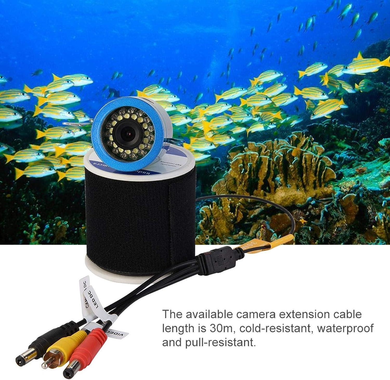 9 Zoll 30 LEDs 1000TVL Fish Finder Unterwasserkamera Fischfinder Anzeigesystem mit 9-Zoll-TFT-Farbmonitor f/ür EIS//Sea//Fluss Angeln 30m Ejoyous Unterwasser-Angelvideokamera