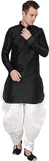 Royal Kurta Men's Silk Blend Patiala Salwar (White; Free Size)