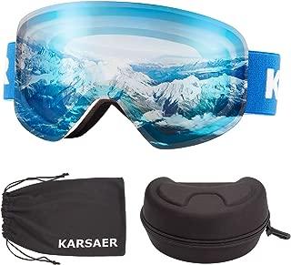 purple lens ski goggles