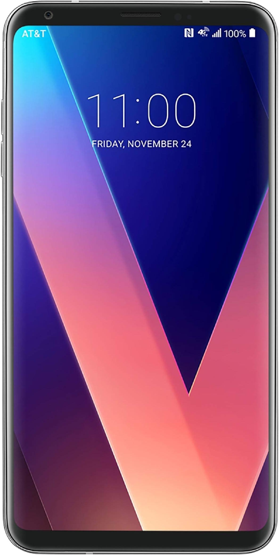 LG V30 Silver for Verizon 64gb - LTE - 6in QHD Plus FullVision Display, LTE, GSM (Renewed)
