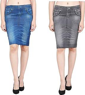 44fdcc386f1178 Denim Women's Skirts: Buy Denim Women's Skirts online at best prices ...