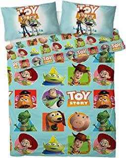 Disney Toy Story - Juego de Funda de edredón Reversible, Color Azul