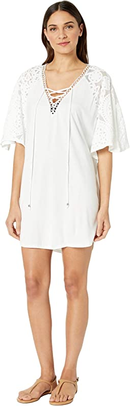 8398ea2590 Vix solid pipa caftan cover up white | Shipped Free at Zappos