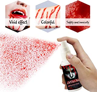 Lisanl Halloween Series, 30ml Realistic Face Blood Spray Edible, Easy to Clean, Party Fancy Makeup Splatter Bloods Hematopoietic Props Decoration